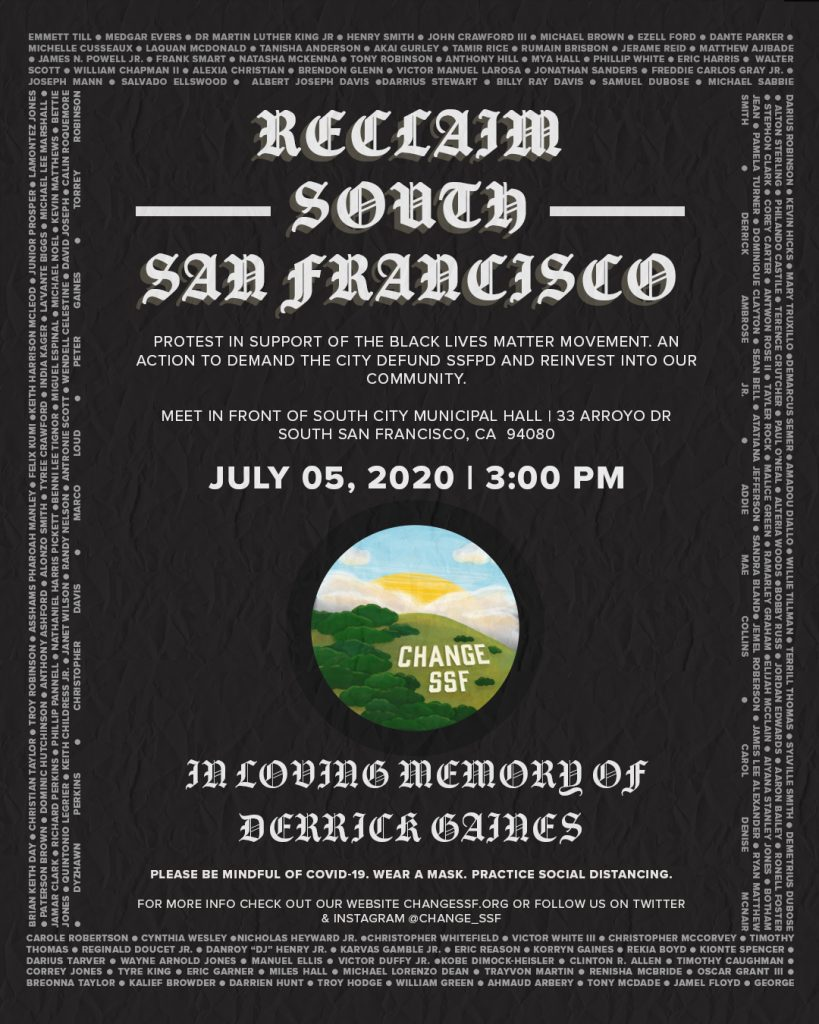 July 5, 2020 Protest Flyer